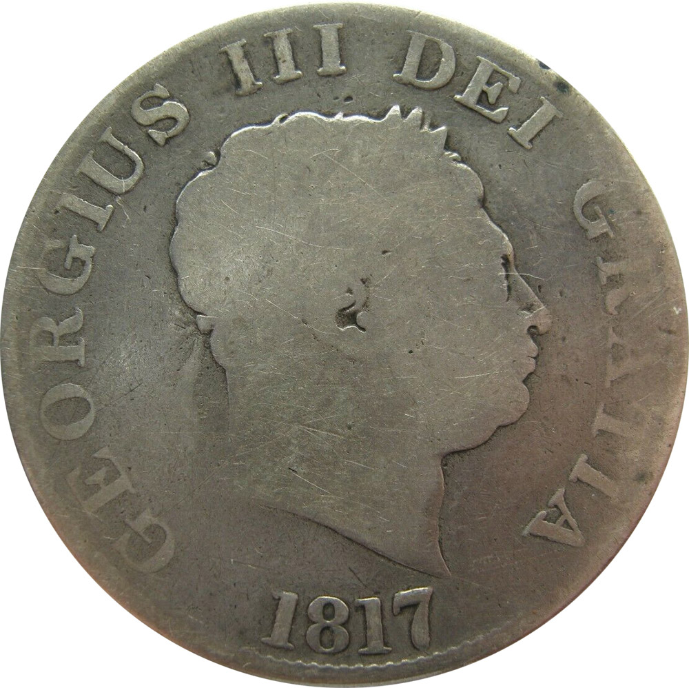 AG-3 - Half Crown 1816 to 1820 - George III - Small Head