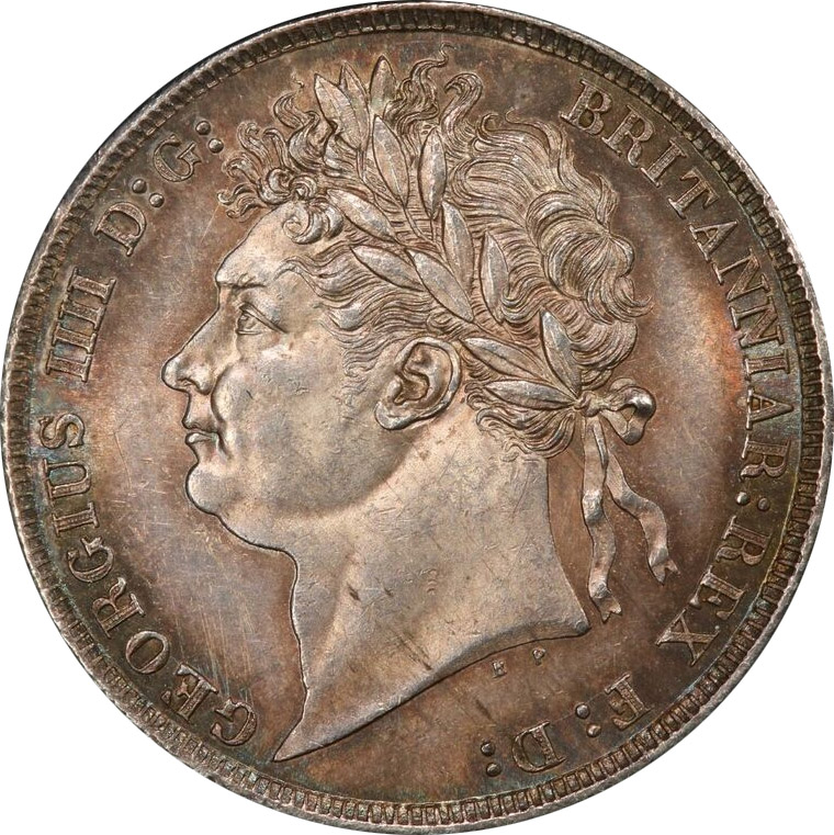 MS-60 - Shilling 1821 to 1825 - George IV - Laureate Head