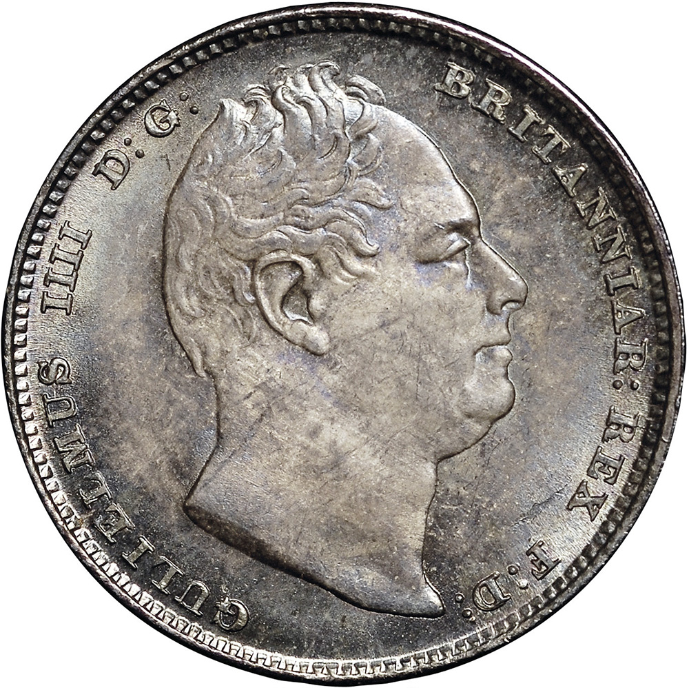 MS-60 - 6 pence 1831 to 1837 - William IV